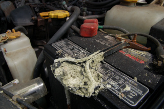 Corroded battery