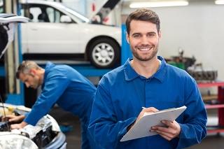 Mechanic Inspection Smiling