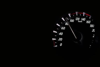 Revving Car speedometer