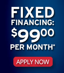 Fixed Financing: $99 per month
