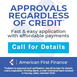 American First Finance - call for details
